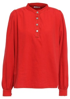 Ganni Woman Denim Blouse Red