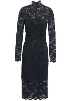 Ganni Woman Flynn Lace Dress Black