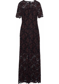 Ganni Woman Flynn Lace Maxi Dress Black