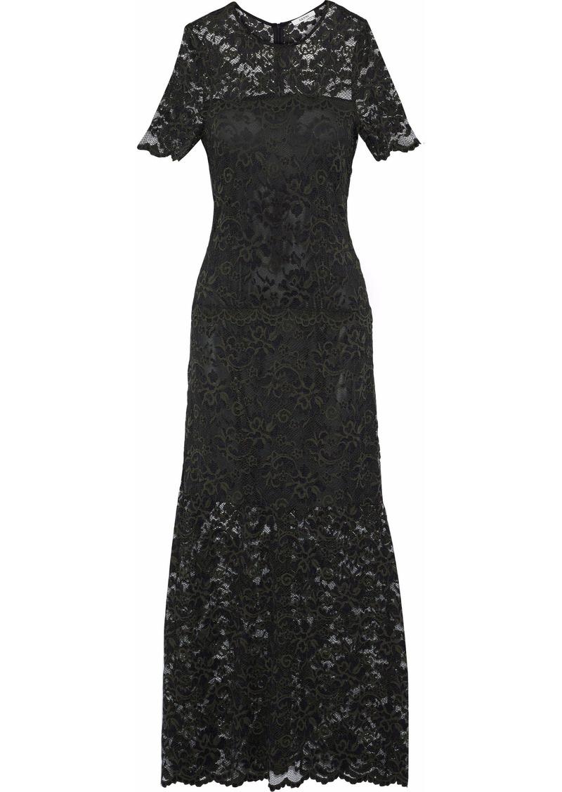 Ganni Woman Flynn Lace Maxi Dress Forest Green