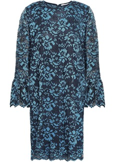 Ganni Woman Flynn Lace Mini Dress Cobalt Blue