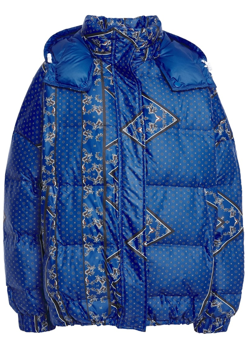 Ganni Woman Foxworth Quilted Printed Shell Hooded Down Jacket Royal Blue