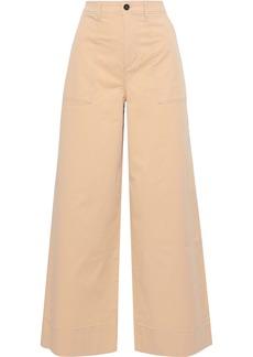 Ganni Woman Hewson Cotton-blend Wide-leg Pants Pastel Orange