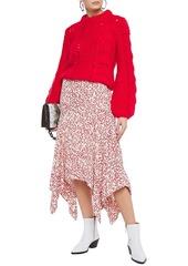 Ganni Woman Julliard Open-knit Mohair And Wool-blend Sweater Red