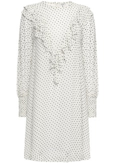 Ganni Woman Rometty Ruffled Printed Georgette Dress Off-white