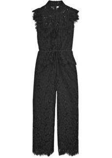 9d5a9e9d2c7 Ganni Woman Ruffled Corded Lace Jumpsuit Black