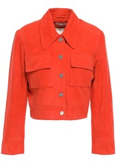 Ganni Woman Salvia Suede Jacket Tomato Red