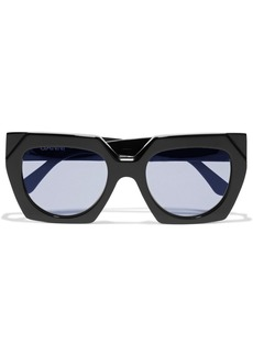 Ganni Woman Oversized Square-frame Acetate Sunglasses Black