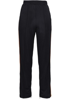 Ganni Woman Stretch-knit Track Pants Black