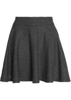 Ganni Woman Stretch Wool And Cashmere-blend Mini Skirt Gray