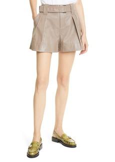 Ganni Women's Leather Shorts