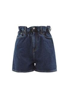 Ganni X Levi's paperbag denim shorts
