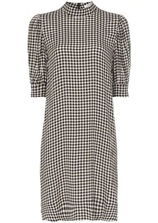 Ganni gingham tent dress