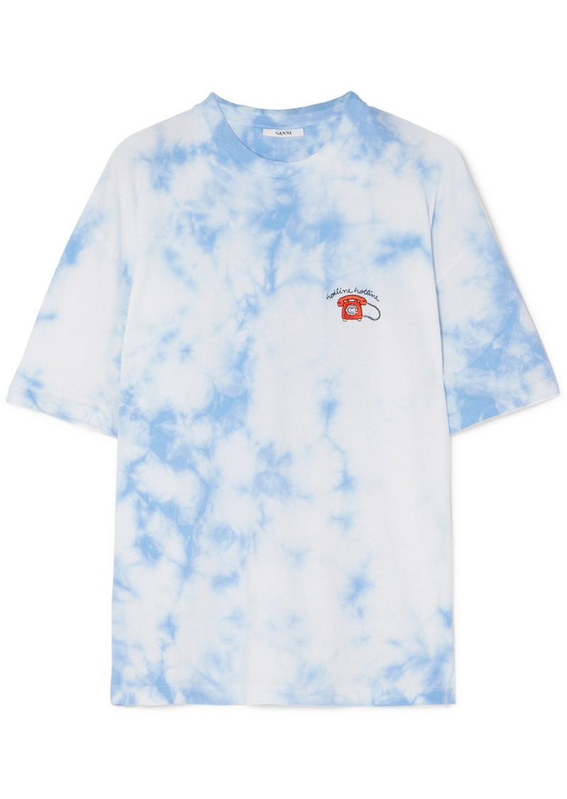low priced b4b2c 81175 Ginsbourg Verbena embroidered tie-dyed cotton-jersey T-shirt