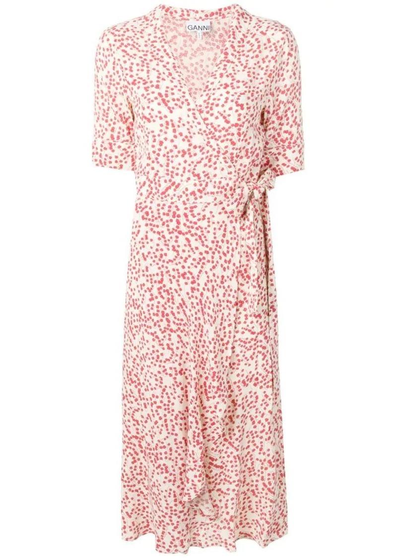 1b288495e462 Ganni Goldstone crepe wrap dress