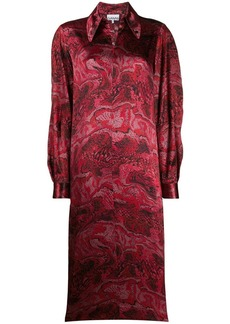 Ganni graphic snake print dress