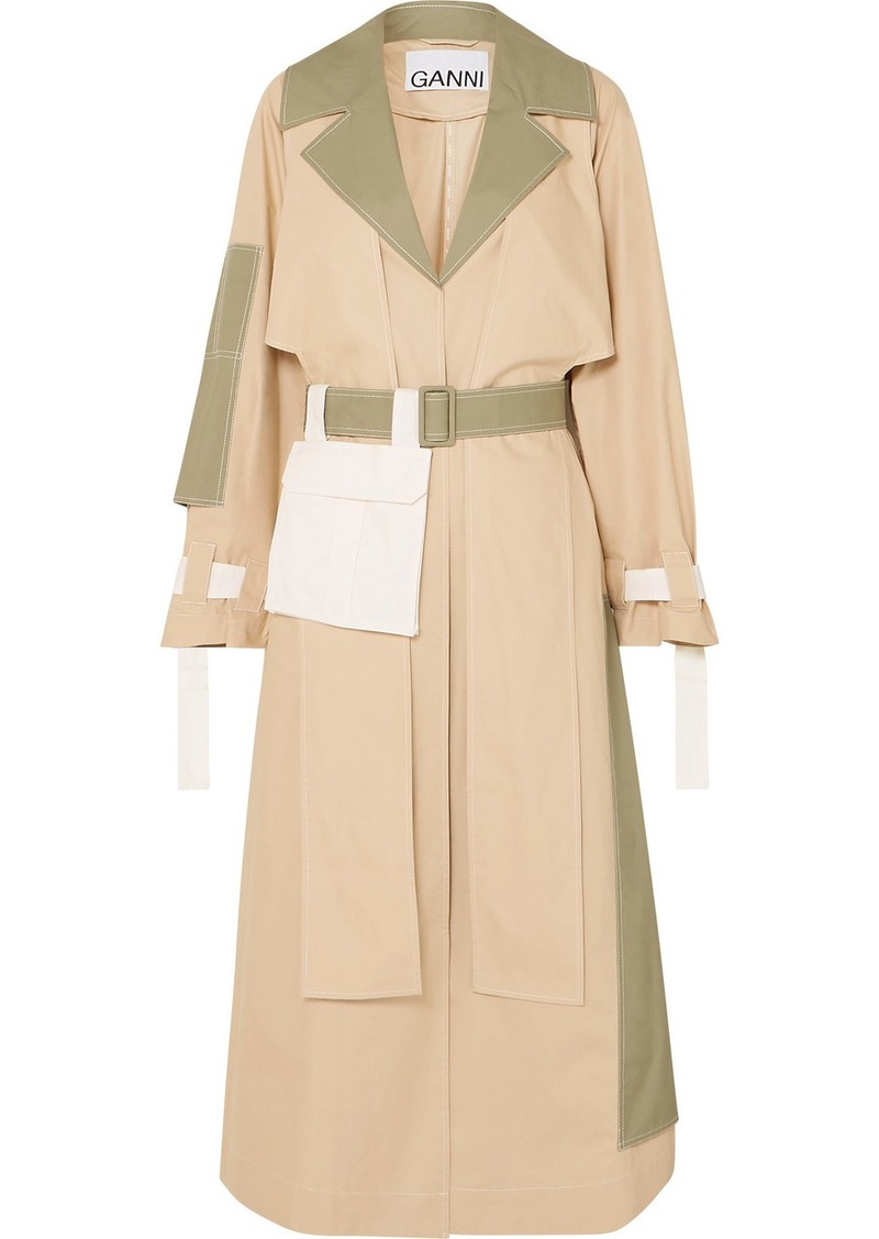 Ganni Cotton Trench Coat