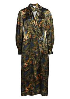 Ganni Heavy Satin Trench Dress