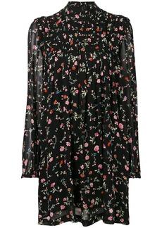 Ganni high neck floral print dress
