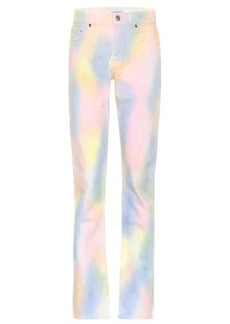 Ganni High-rise straight rainbow jeans