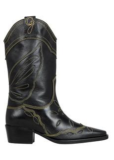 Ganni High Texas Western Boots
