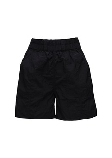 Ganni High Waist Nylon Shorts