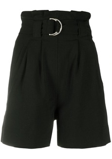 Ganni high-waisted belted shorts