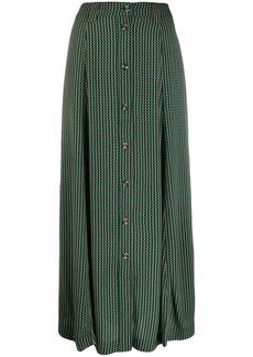 Ganni high waisted check skirt