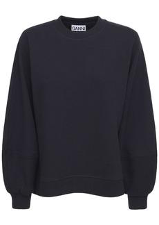 Ganni Isoli Recycled Cotton Blend Sweatshirt