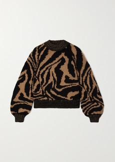 Ganni Jacquard Wool And Alpaca-blend Sweater