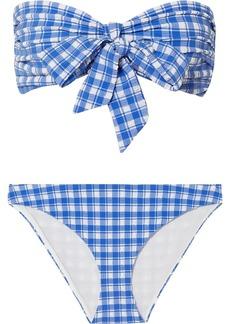 Ganni Gingham Seersucker Bikini