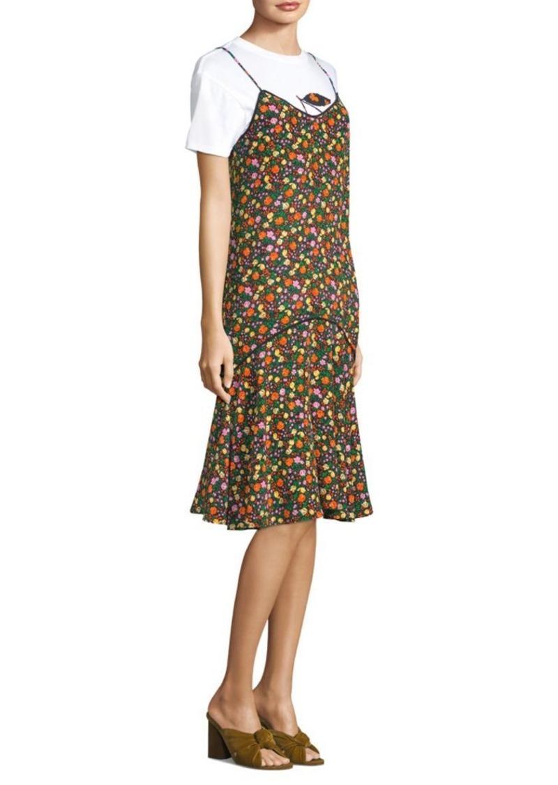 3f3ea4af Ganni Joycedale Floral Silk Slip Dress   Dresses