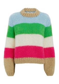 Ganni Julliard Colorblock Striped Sweater