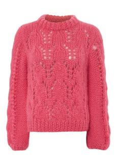 Ganni Julliard Mohair Hot Pink Sweater