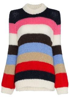 Ganni Julliard striped knitted jumper