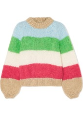 Ganni julliard striped mohair and wool blend sweater abv5a391be7 a