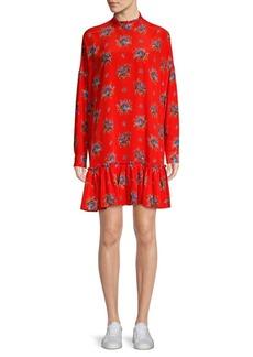 Ganni Kochhar Silk Drop Waist Dress