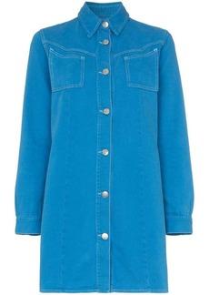 Ganni Krest cotton shirt dress