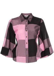 Ganni large check shirt