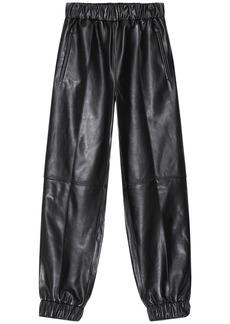 Ganni Leather Cargo Pants