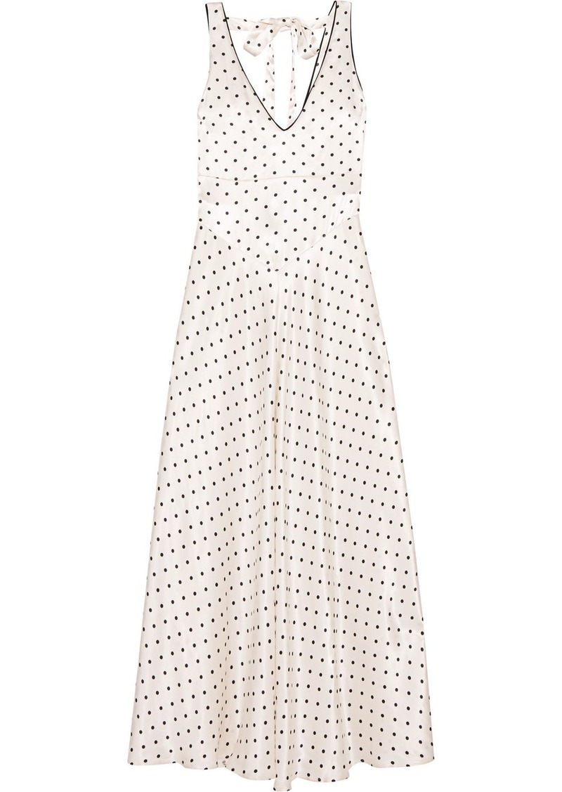 a4a1f16e28 Ganni Leclair open-back polka-dot satin maxi dress   Dresses