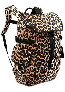 Ganni Leopard Print Tech Backpack