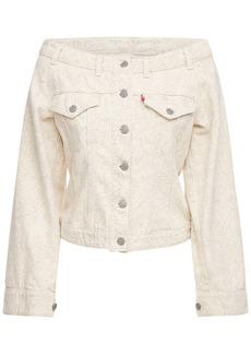 Ganni Levi's Off-the-shoulder Denim Jacket