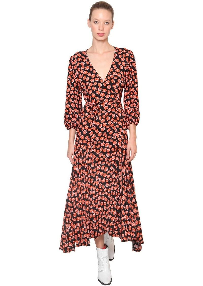 d1785dd7ecb97 Ganni Lindale Floral Printed Crepe Midi Dress   Dresses