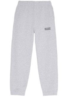 Ganni Logo Recycled Fleece Sweatpants