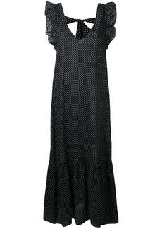Ganni long polka dot dress