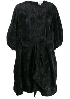 Ganni loose fit pleated mini dress