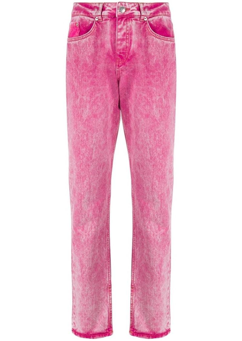 Ganni low-rise washed denim jeans