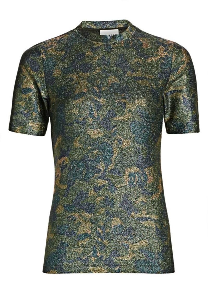 Ganni Lurex Jersey Shirt