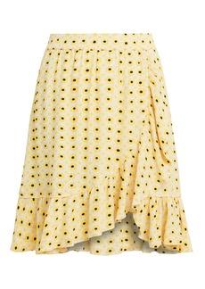 Ganni Maize Crepe Skirt